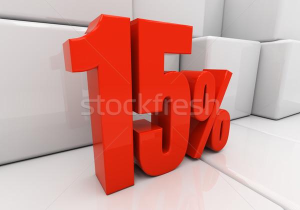 3D 15 percent Stock photo © Supertrooper