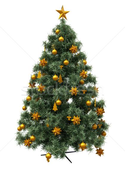 Noel ağacı yalıtılmış süslemeleri izolasyon beyaz nesne Stok fotoğraf © Supertrooper