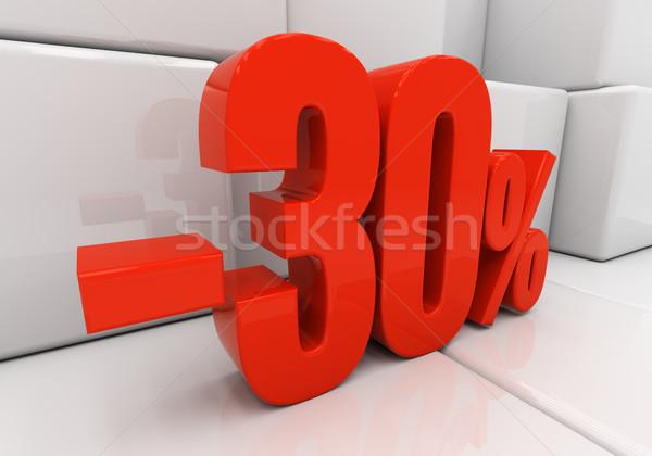 Stok fotoğraf: 3D · 30 · yüzde · indirim · 3d · illustration