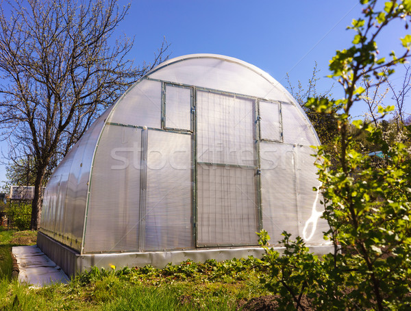 Modern Polycarbonate Greenhouse Stock photo © Supertrooper