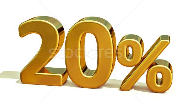 3D ouro 20 vinte por cento desconto Foto stock © Supertrooper