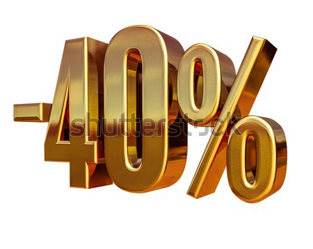 Gold -40%, Minus Forty Percent Discount Sign Stock photo © Supertrooper