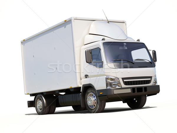 Blanche commerciaux camion de livraison couleur transport livraison Photo stock © Supertrooper