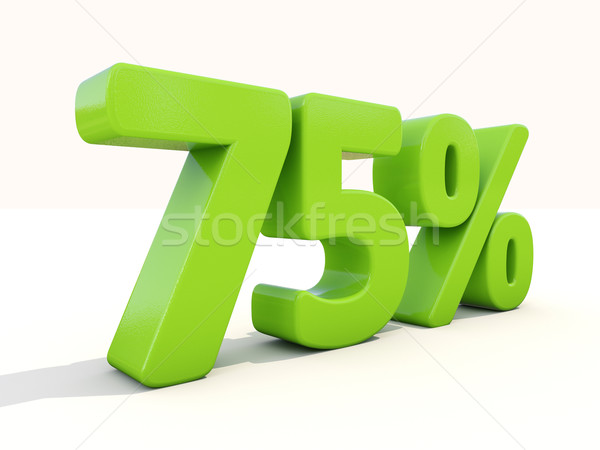 75% percentage rate icon on a white background Stock photo © Supertrooper