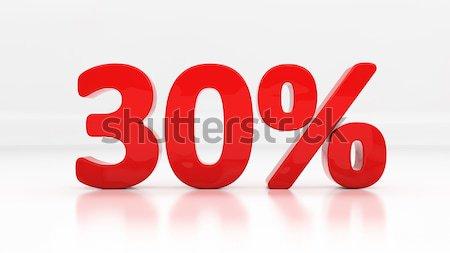 3D thirty percent Stock photo © Supertrooper