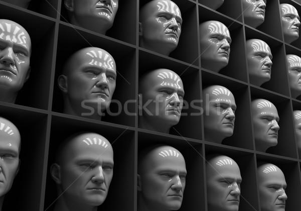 çok halklar kutuları insanlık yalnızlık adam Stok fotoğraf © Supertrooper