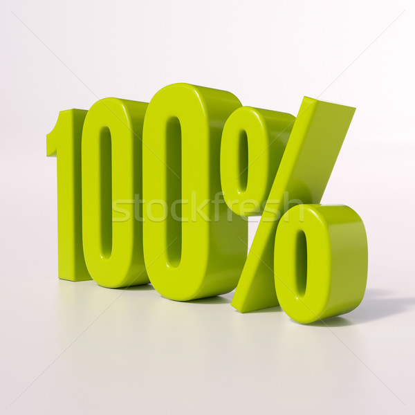 Percentage sign, 100 percent Stock photo © Supertrooper
