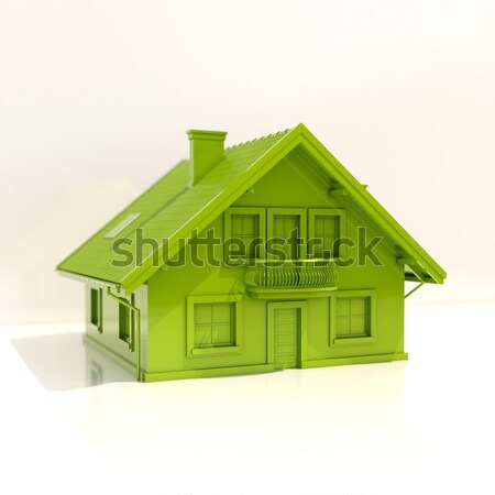 Stock photo: Hands Holding Model House Isolated