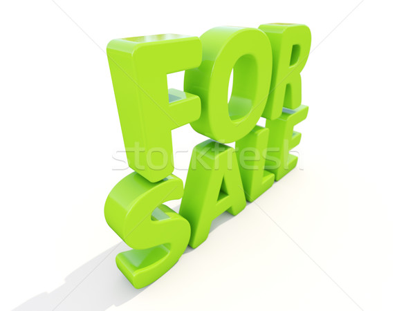 Stockfoto: 3D · verkoop · icon · witte · 3d · illustration · business