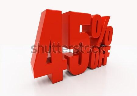 3D 40 percent Stock photo © Supertrooper