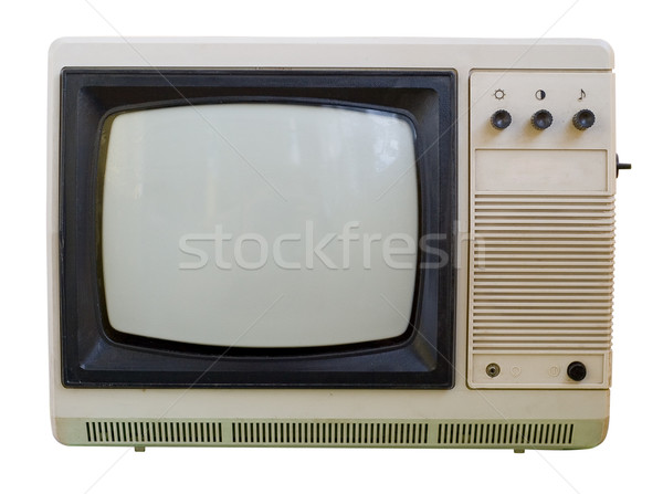 Old TV isolated Stock photo © Supertrooper