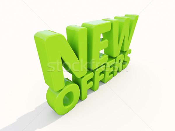 3D nieuwe icon witte 3d illustration aanwezig Stockfoto © Supertrooper