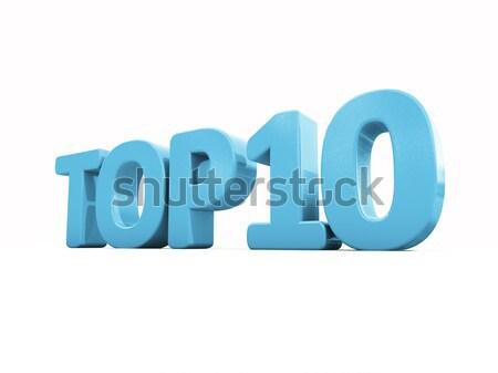 3D topo ícone branco ilustração 3d cartas Foto stock © Supertrooper