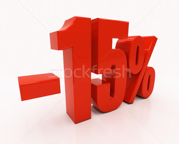 3D 15 процент скидка 3d иллюстрации Сток-фото © Supertrooper