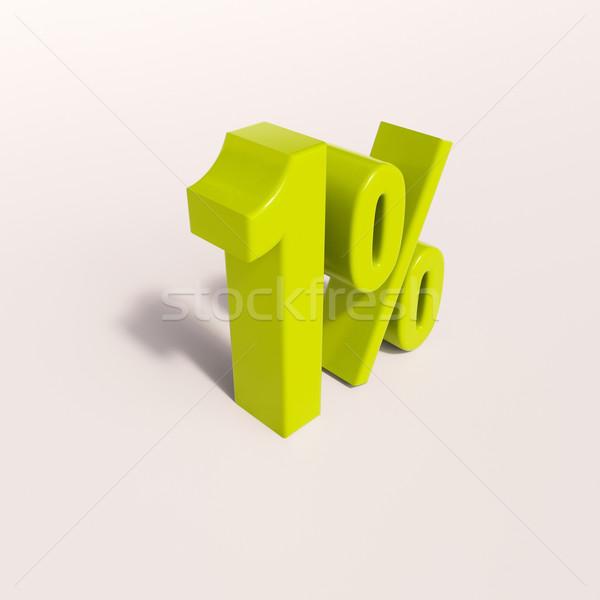 Yüzde imzalamak yüzde 3d render yeşil indirim Stok fotoğraf © Supertrooper