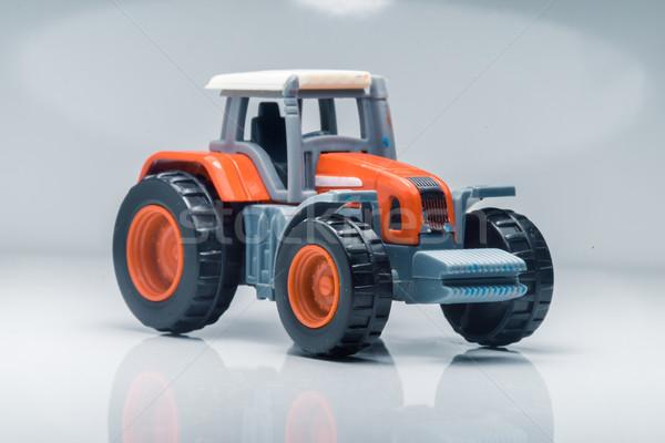Ninos plástico juguete tractor pequeño rojo Foto stock © Supertrooper