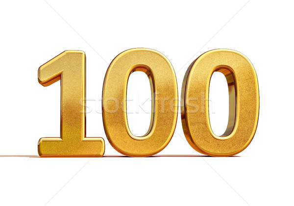 Gold 3d 100th Anniversary Sign Stock photo © Supertrooper