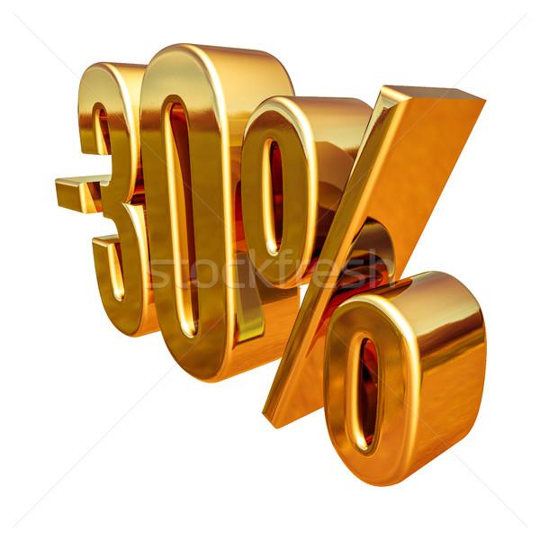 3D or 30 pour cent réduction signe Photo stock © Supertrooper