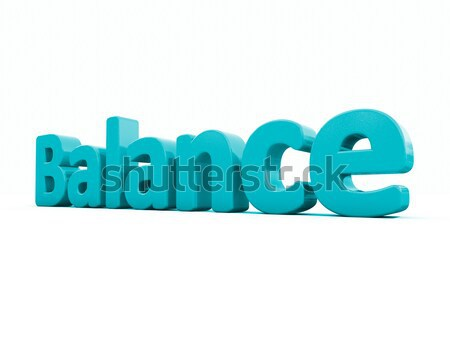 3D kelime dengelemek ikon beyaz 3d illustration Stok fotoğraf © Supertrooper