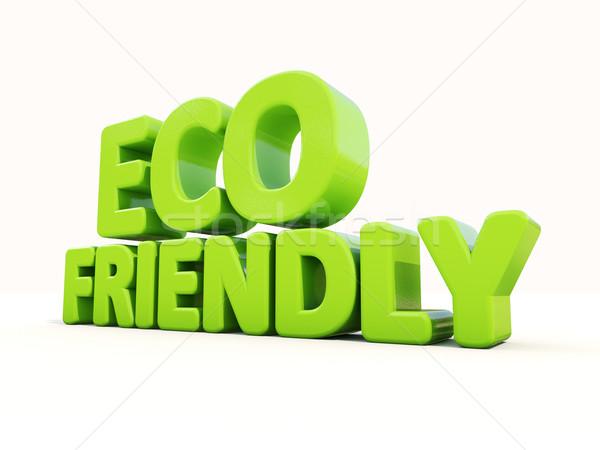 3D eco icon witte 3d illustration natuur Stockfoto © Supertrooper
