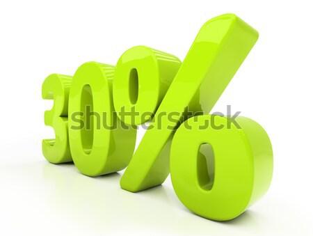 Stock fotó: 3D · harminc · százalék · izolált · fehér · el