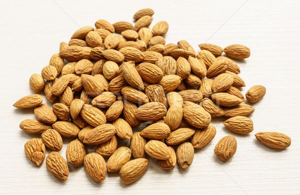 Peeled Almonds Closeup Stock photo © Supertrooper