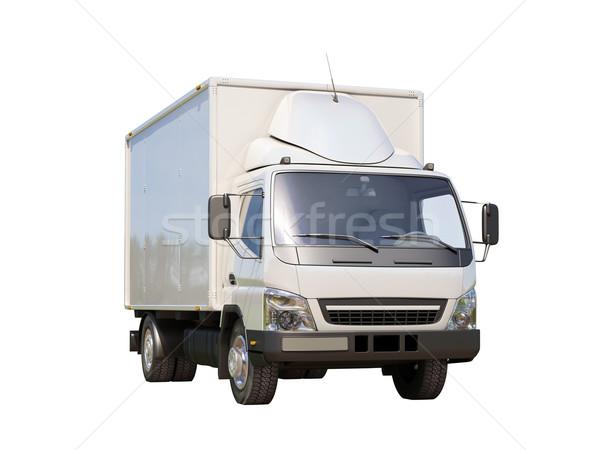 Blanco comerciales camión de reparto aislado color transporte Foto stock © Supertrooper