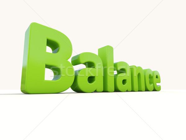 3d word balance Stock photo © Supertrooper