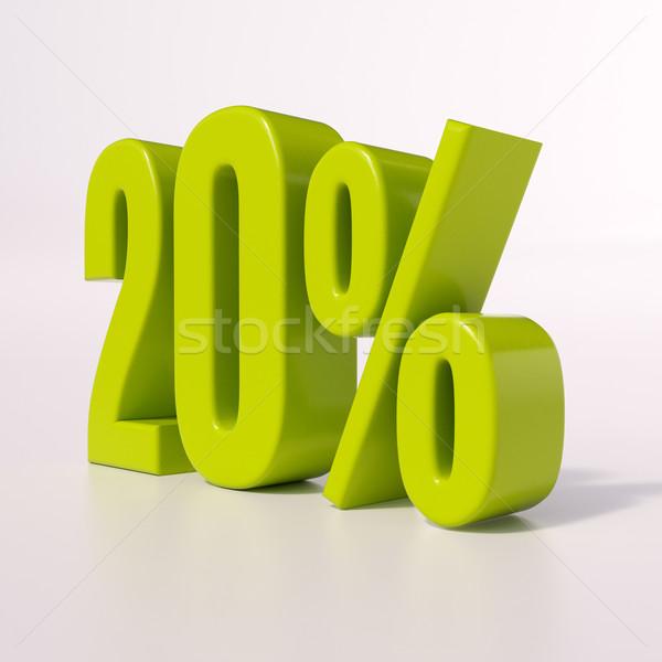 Percentage sign, 20 percent Stock photo © Supertrooper