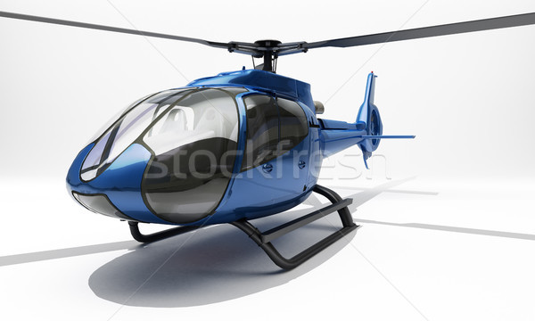 Moderne helikopter Blauw licht geneeskunde snelheid Stockfoto © Supertrooper