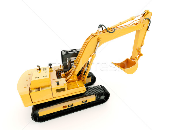 Excavator isolated with light shadow Stock photo © Supertrooper