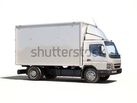 Fehér kereskedelmi szállítóautó izolált szín szállítás Stock fotó © Supertrooper