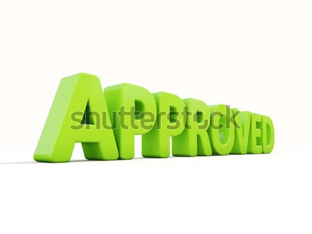 3D Approved Stock photo © Supertrooper