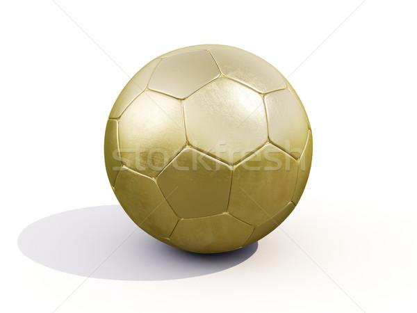 Golden soccer ball Stock photo © Supertrooper