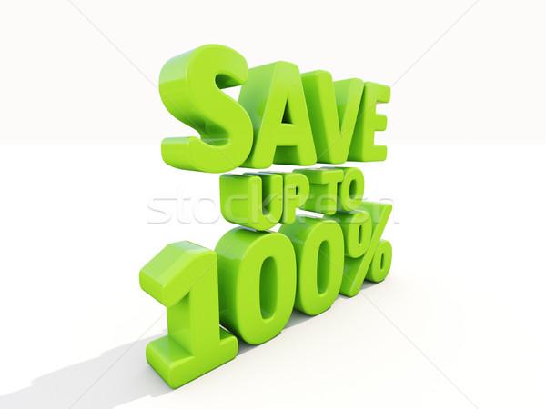 Opslaan omhoog 100 markt voorraad Stockfoto © Supertrooper