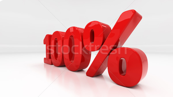 3D one hundred percent Stock photo © Supertrooper