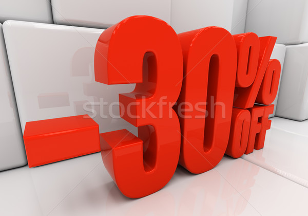 3D 30 pour cent réduction 3d illustration Photo stock © Supertrooper