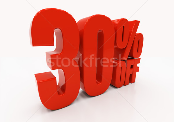3D 30 percent Stock photo © Supertrooper