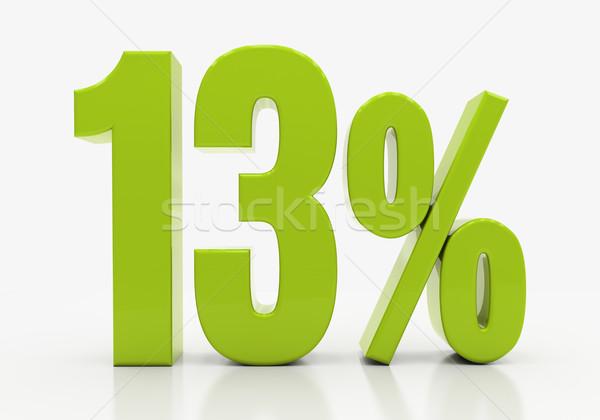 3D процент скидка 3d иллюстрации зеленый Сток-фото © Supertrooper