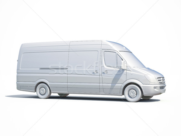 3D fehér kisteherautó ikon 3d render szolgáltatás Stock fotó © Supertrooper