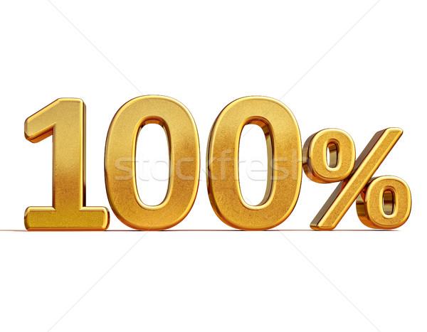 3D 金 100 100 パーセント 割引 ストックフォト © Supertrooper