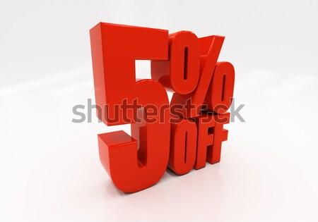 3D 5 percent Stock photo © Supertrooper