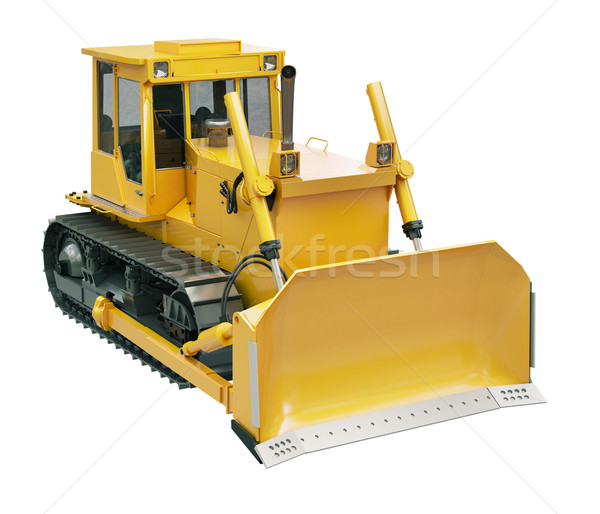 Heavy crawler bulldozer  isolated  Stock photo © Supertrooper