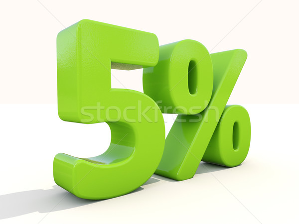 5% percentage rate icon on a white background Stock photo © Supertrooper