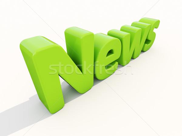 3D nieuws icon witte 3d illustration teken Stockfoto © Supertrooper