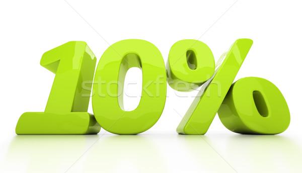 3D десять процент изолированный скидка Сток-фото © Supertrooper