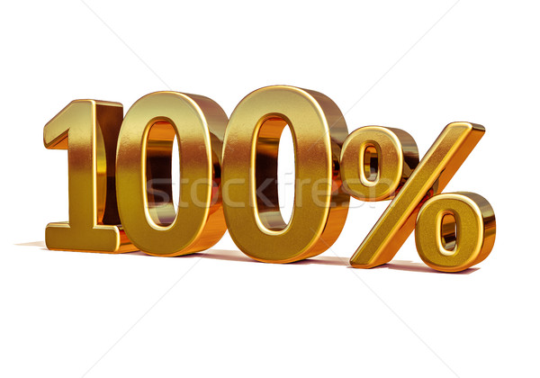 3d Gold 100 Hundred Percent Discount Sign Stock photo © Supertrooper