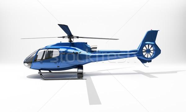Moderne helikopter Blauw licht snelheid lopen Stockfoto © Supertrooper