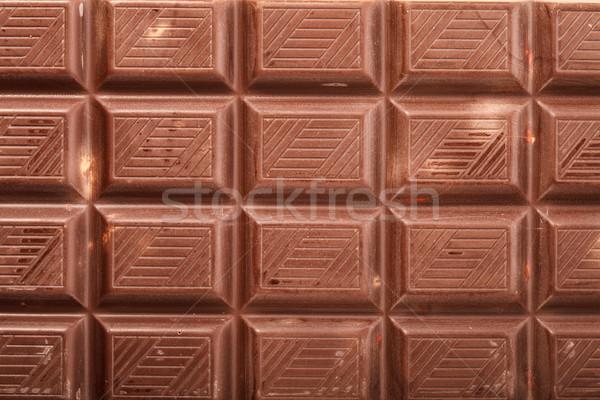 Csokoládé szelet közelkép étel absztrakt csokoládé textúra Stock fotó © Supertrooper