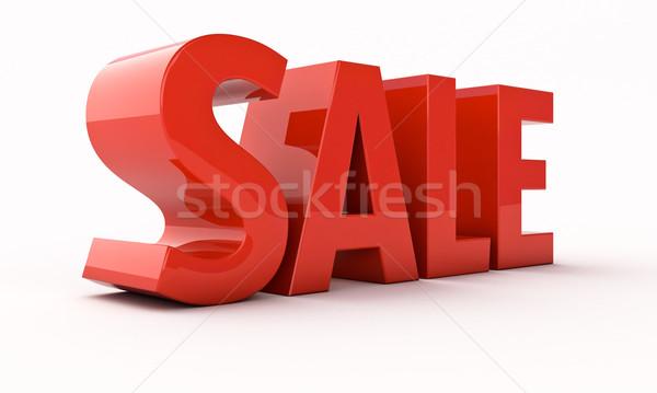 Sale 3d renfer Stock photo © Supertrooper